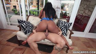 Beautiful big breasted Monique Symone who loves to get her muff fucked cums