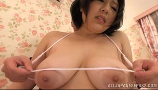 Lovable Kotone Nishida with big tits gets her nice a-hole groped and squeezed