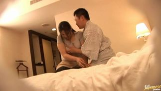 Aroused floosy with firm milk cans has her chubby poon tang plowed