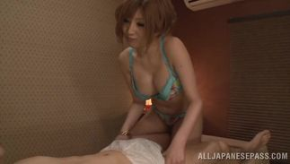 Admirable babe Reira Akane with large tits is fucking fuckmate and enjoying it although she was supposed to go to work