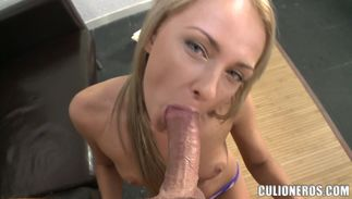 Bizarre Ivana Sugar with massive natural tits asked stranger to fuck her brains out