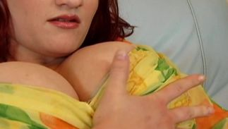 Big breasted beauty gets her delicious shaved taco banged