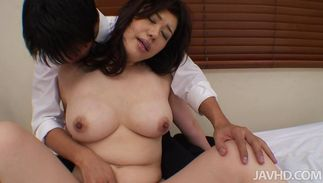 Lovely chick Yukari with big tits is loudly moaning while riding a big hard fang