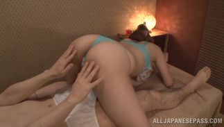 Goluptious big titted Reira Akane gets ready to fuck with her hunk