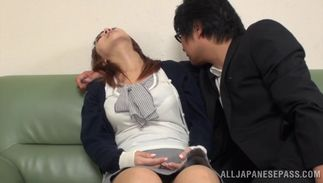 Stupendous big boobed Tsubasa Arai drives her male into the worlf of agonorgasmos