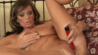 Hot brown-haired Pandora with impressive tits enjoys riding buddy's rock solid lever