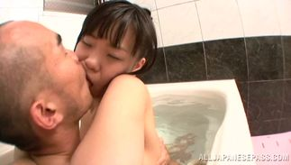 Dishy sweetie Sayaka Aishiro with giant tits and fuckmate are making a porn video 'cuz it excites them a lot