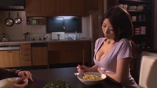 Fresh big breasted cutie Ayumi Shinoda swallows a large cock like a pro