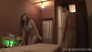 Lovable Reira Akane with giant tits has a good love tunnel for banging