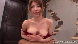 Glamor busty Yuuka Minase is always down to fuck perverted boy