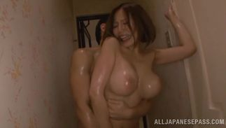 Hot-tempered busty playgirl Ruri Saijo got down and dirty