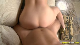Mesmerizing Charlotte Davis with great tits was sucking large dangler as unfathomable as she could take it