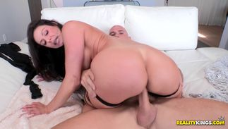 Lovely brown-haired Kendra Lust with great tits was hopeless to get fucked until she cums