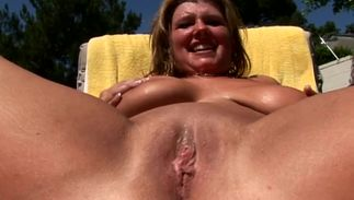 Aroused blond Zoey Andrews with huge tits grinds on a long boner previous to riding it