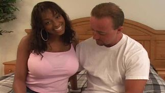 Fellow bangs appetizing big titted maid Carmen Hayes's smooth cuch with great passion