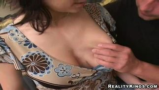 Mouthwatering Marian with big tits wants to be fucked while in a doggystyle at home