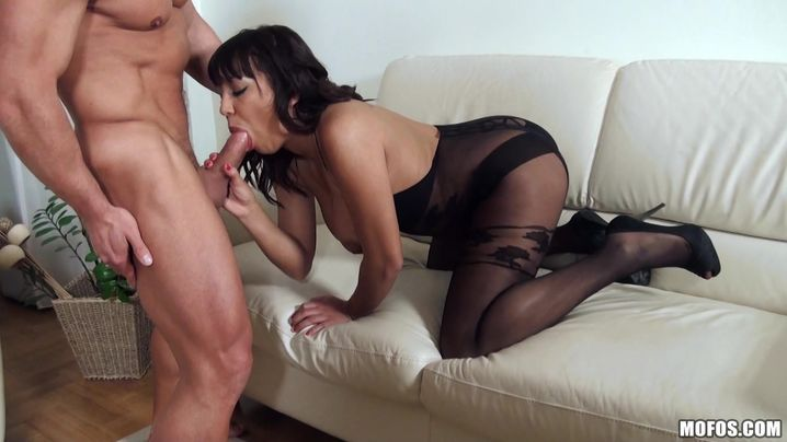 Lascivious beauty Shanis with biggest tits in got fucked in front of the camera